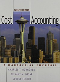 Image of Cost Accounting 12 Edition